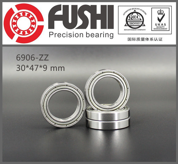 10 Pack 6906-ZZ Steel Deep Groove Ball Bearings 30x47x7mm