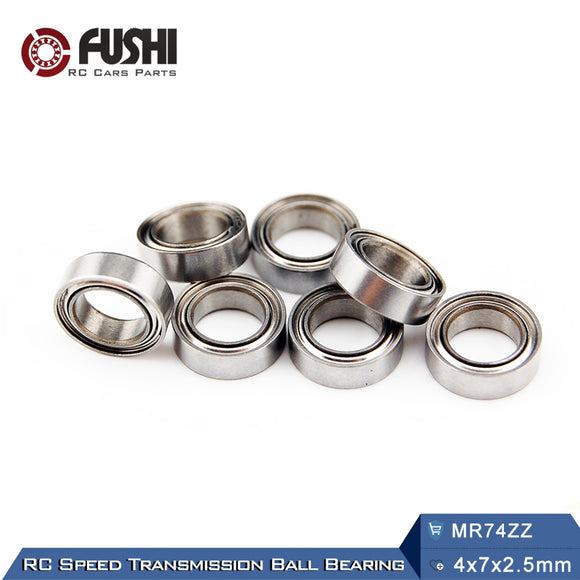 10 Pack MR74 ZZ Miniature Ball Bearings 4x7x2.5mm Miniature L-740ZZ For Axial SCX10 II
