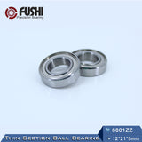 10 Pack 6801-ZZ Steel Deep Groove Ball Bearings 12x21x5mm