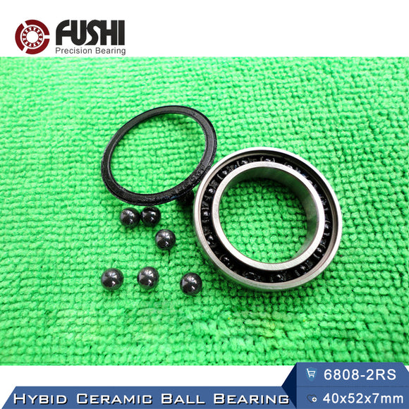 6808-2RS Hybrid Ceramic Deep Groove Ball Bearings 40x52x8mm