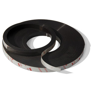 2 Metres of Rubber Magnetic Tape 12.7mm Wide x 1.5mm Thick with Self-Adhesive