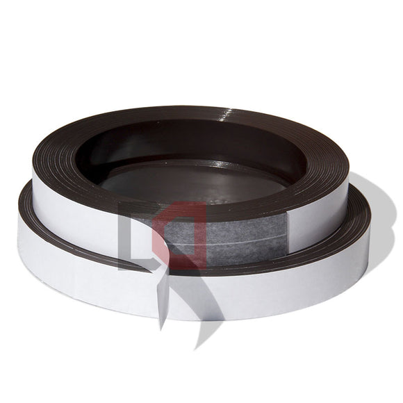 2 Metres of Rubber Magnetic Tape 25.4mm Width x 1mm Thickness with Self-Adhesive