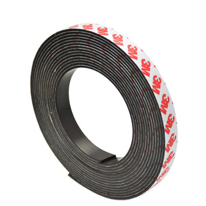 1 Metre of Rubber Magnetic Tape 15mm Width x 2mm Thickness with Self-Adhesive