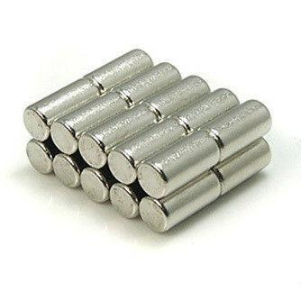 20 Pack Cylinder 5mm x 10mm Neodymium Rod Magnets N35