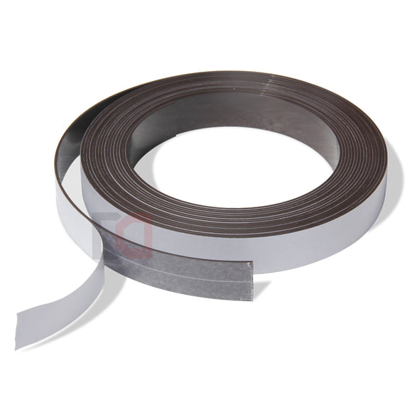 1 Metre of Rubber Magnetic Tape 25.4mm x 1.5mm Thickness with Self-Adhesive
