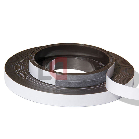 2 Metres of Rubber Magnetic Tape 20mm Width x 1.5mm Thickness with Self-Adhesive