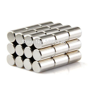 100 Pack Round 8 x 15mm Strong Neodymium Cylinder Magnets N35