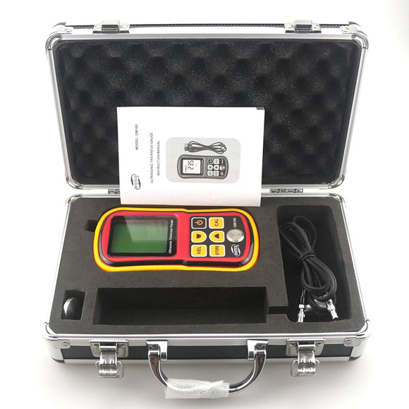 GM100 Digital Ultrasonic Thickness Gauge 1.2 - 225mm with Storage Case