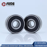 5314-2RS Steel Double Row Angular Contact Ball Bearings 70x150x63.5mm