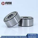 5300-ZZ Steel Double Row Angular Contact Ball Bearings 10x35x19mm