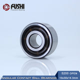 5204 Chrome Steel Double Row Angular Contact Ball Bearing 20x47x20.6mm