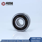 5301 Double Row Angular Contact Open Steel Ball Bearing  12x37x19mm