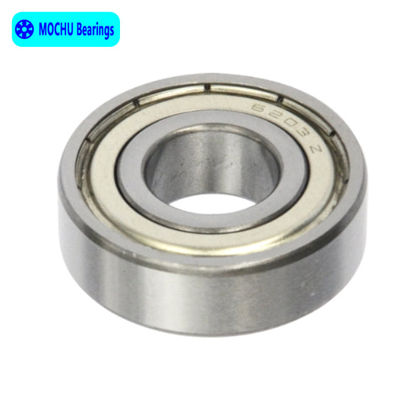 10 Pack 6203-ZZ Steel Deep Groove Ball Bearings 17x40x12mm