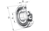 6010-ZZ Steel Deep Groove Ball Bearings 50x80x16mm
