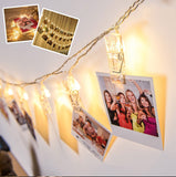 2 Metres LED Photo Clip Battery Powered String Lights