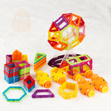 116 Piece Set of Mini Magnetic Building Constructor Blocks - Mini Tudou