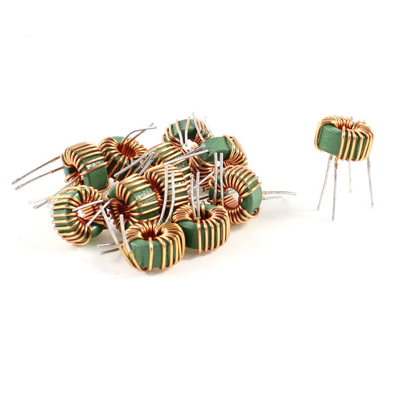 10 Pcs Toroid Core Common Mode Inductor Choke 800Uh-1Mh 40Mohm 2A Coil