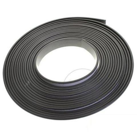 5 Metres of Soft Rubber Magnetic Tape 20mm Width x 1.5mm Thickness with Self-Adhesive