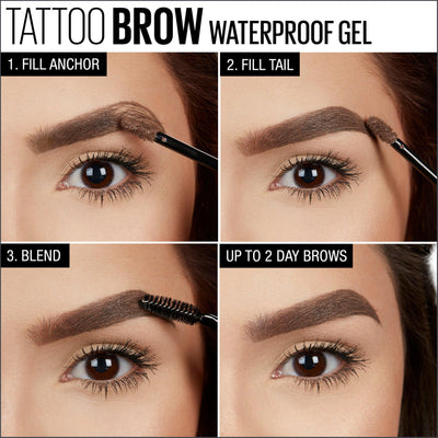 Maybelline Tattoo Studio Waterproof Brow Gel Deep Brown 6.8 ml