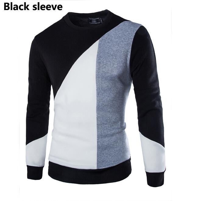 Men Fashion Patchwork Sweater O-Neck Autumn Winter Pullovers Knitted Sweater Men Top Quality Brand Clothing