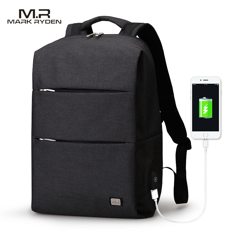 MarkRyden Men Backpack For 15.6inches Laptop Backpack Large Capacity Casual Style Bag Water Repellent