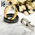 The Lord of the  Stainless Steel Black/golden Rings jewelry for Men Fashion Jewelry Casual