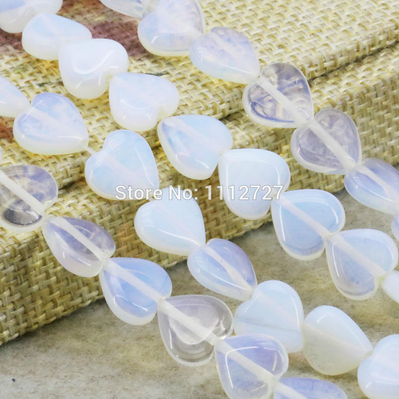 Accessory Crafts Sri Lanka Natural Moonstone Hyaline Opal Heart Loose Diy Beads Stones Balls Gifts Jewelry Making 10mm 15inch