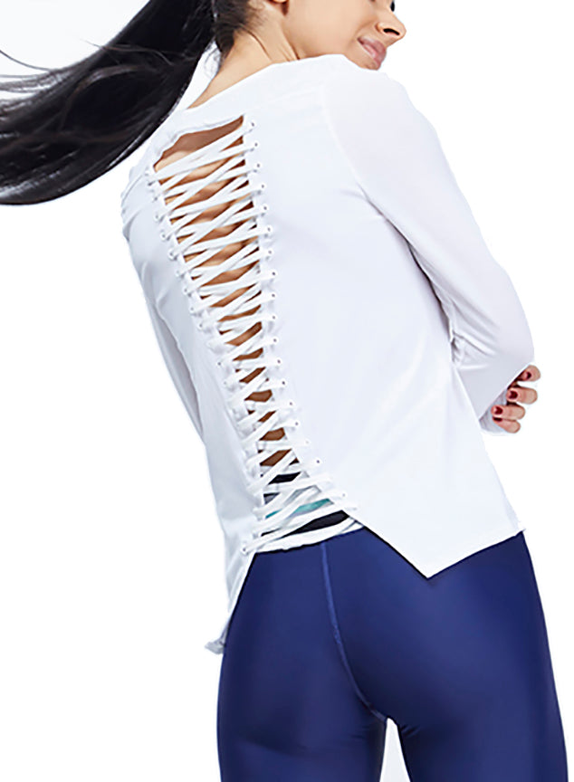 Laced Up Long Sleeve Top