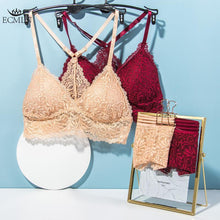 Load image into Gallery viewer, Transparent Lace Bra and Panty Set Women Sexy Lingerie Intimates Ladies Underwear Set Fashion Bra & Brief Sets Solid Color