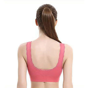 WomenCross Side Buckle Wireless Push up Breathable