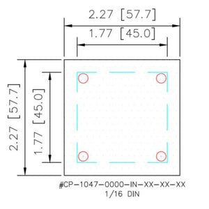 Cover Plate - 1/16 DIN - HMIAdapterPlate