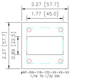 Adapter Plate - 1/16 DIN to 1/32 DIN - HMIAdapterPlate