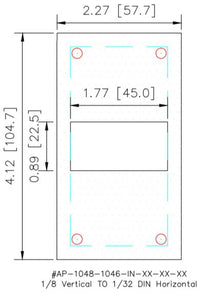 Adapter Plate - 1/8 DIN Vertical to 1/32 DIN Horizontal - HMIAdapterPlate