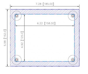AB PV Standard 550 Touch Only Cover Plate (D041889 CP1025-0000-IN-XX-XX-XX)