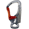 Climbing Technology Top Shell carabiner, in silver with orange gate