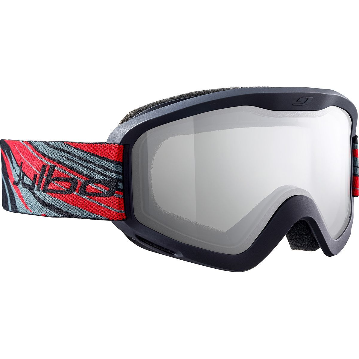 Julbo Plasma Cat 0, in Red/Black colours shown front/side on