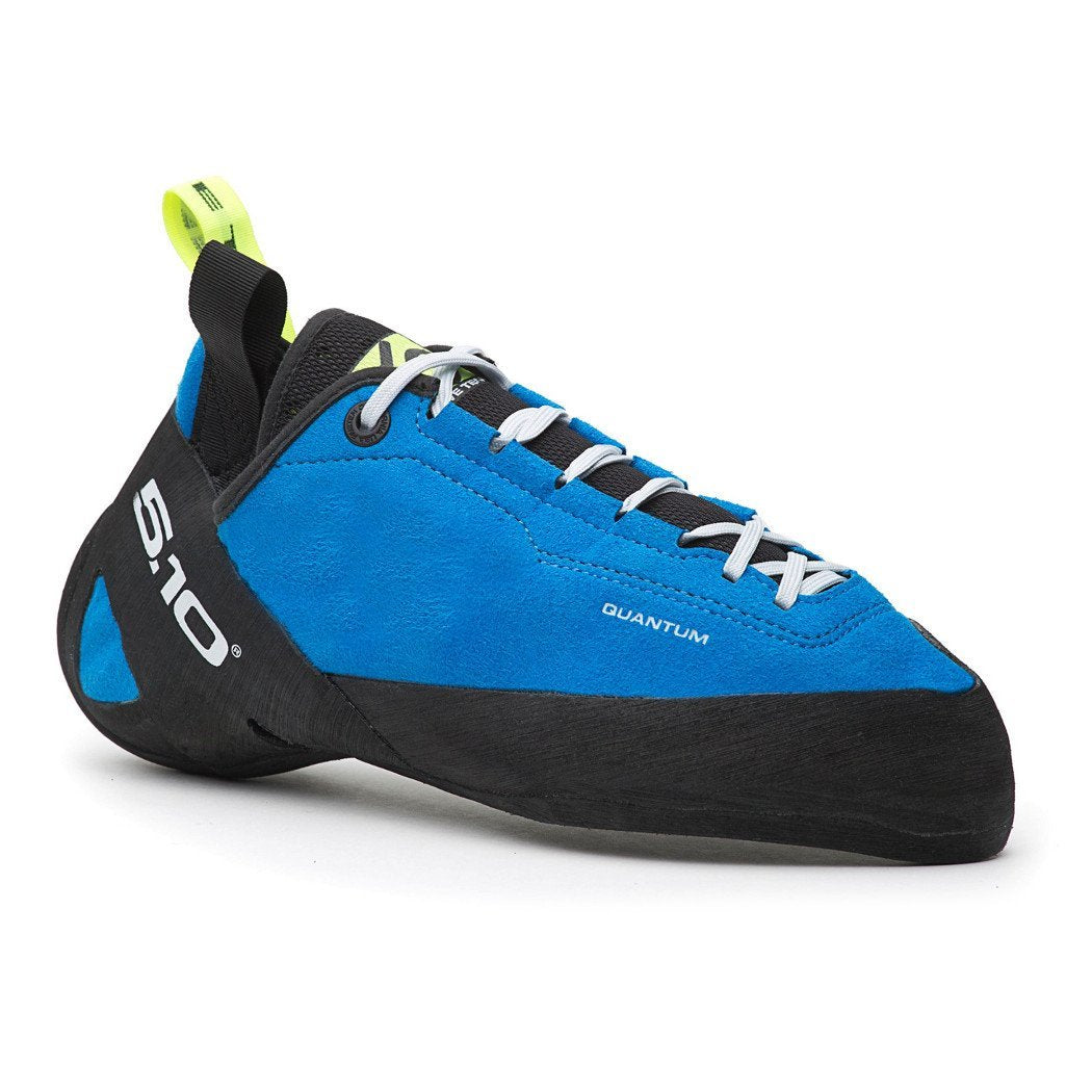 Five Ten Quantum climbing shoe, in black and blue colours