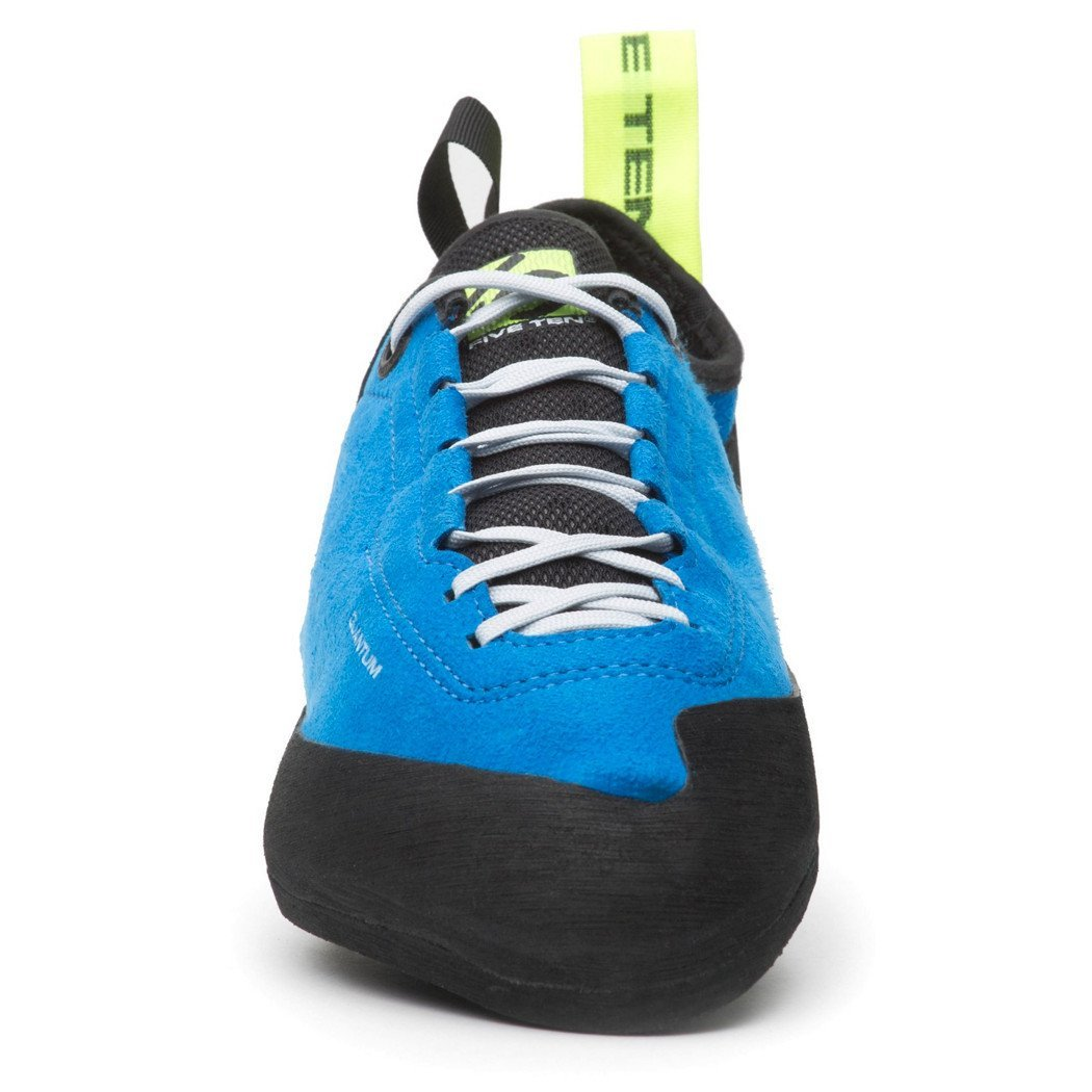 Five Ten Quantum climbing shoe, front view showing lace detail