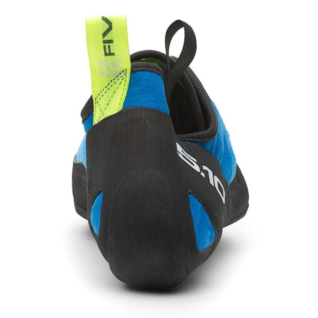 Five Ten Quantum climbing shoe, rear view showing heel detail