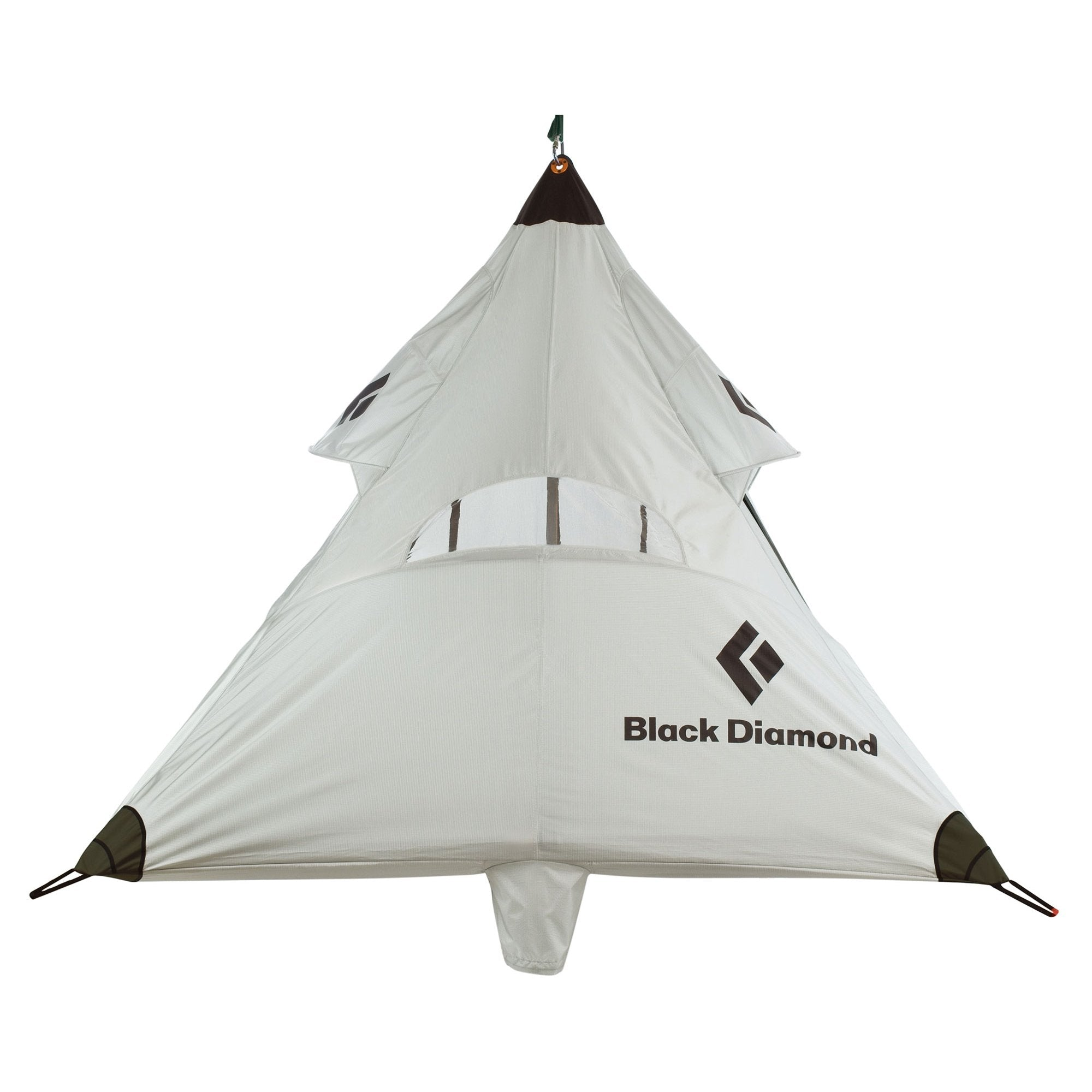 Black Diamond Deluxe Cliff Cabana Double Fly, front view shown erect in white colour