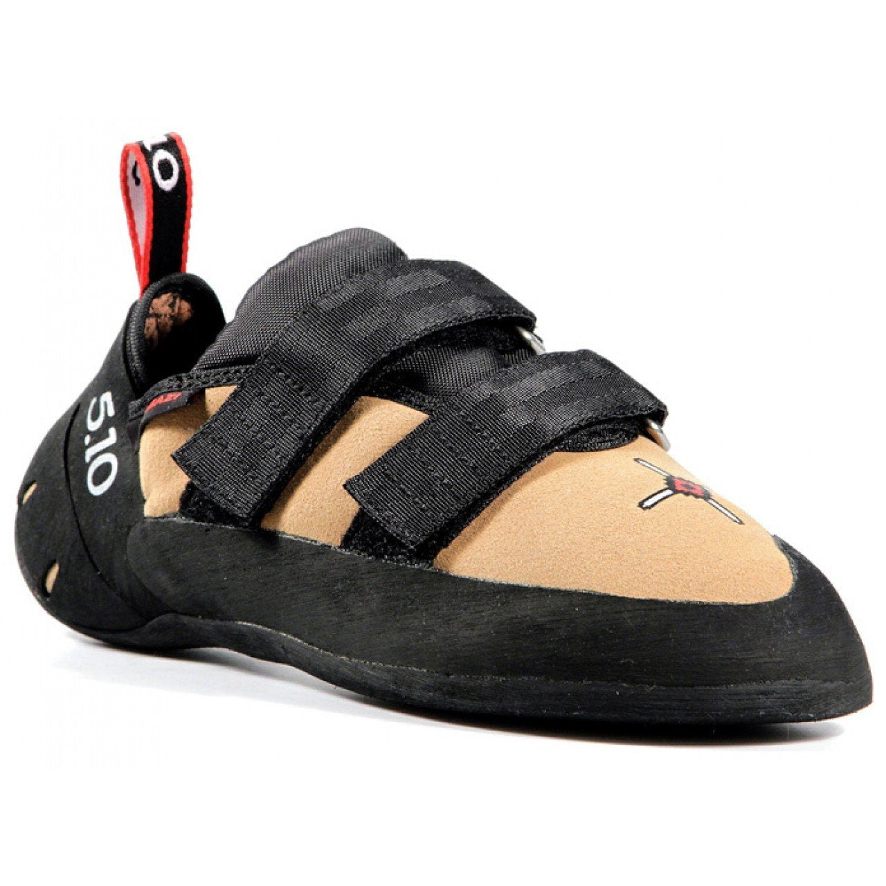 Five Ten Anasazi VCS climbing shoe, in black and tan colours