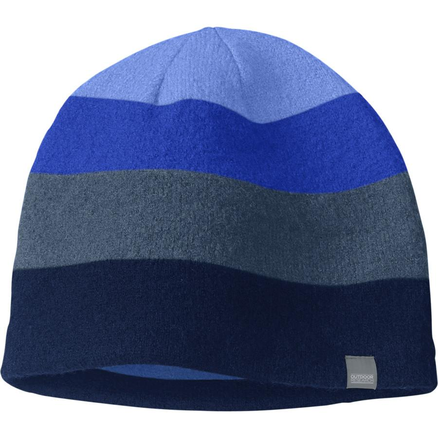 Outdoor Research Gradient Beanie, front view in Blue colour