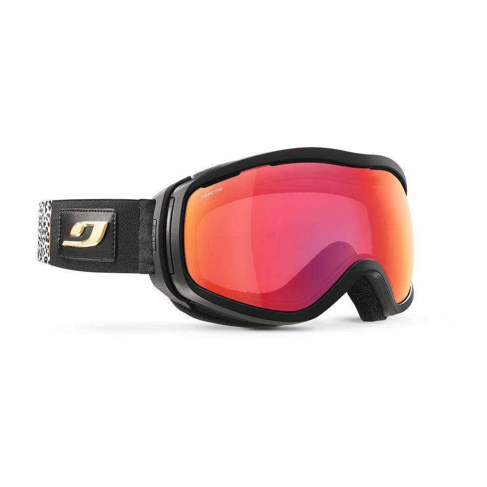 Julbo Elara Reactiv All-Round Cat 2-3 Goggles, front/side view with black strap