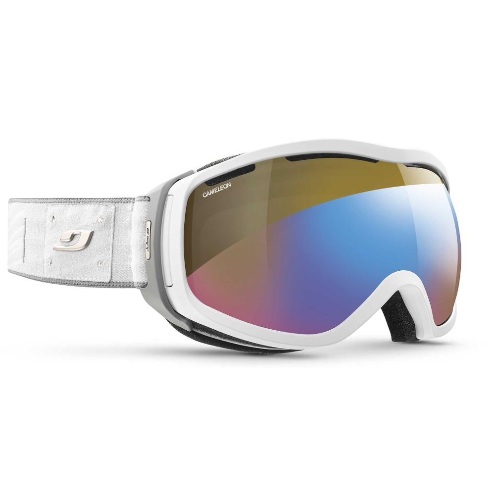 Julbo Elara Reactiv Cameleon Cat 2-4 Goggles, front/side view in Grey/Silver colours