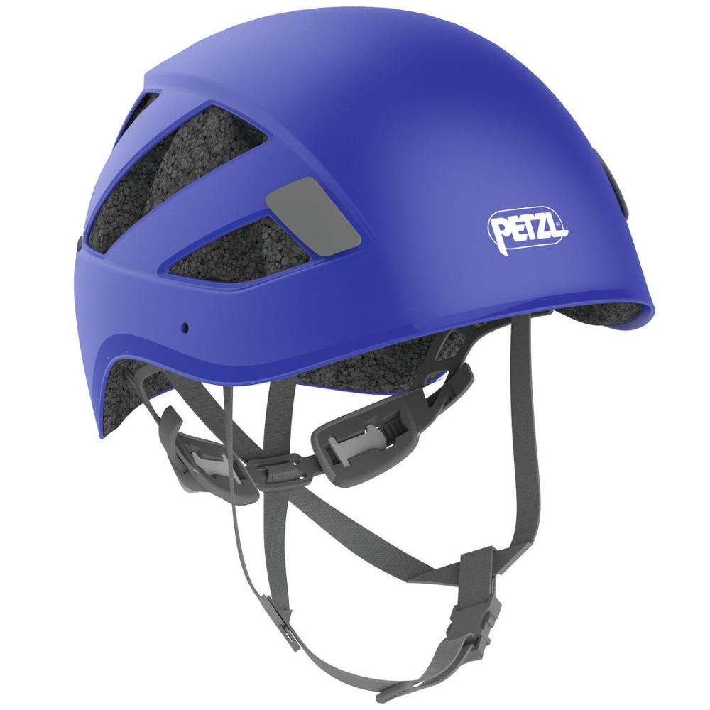 Petzl Boreo multi-activity helmet, front/side view shown in blue colour