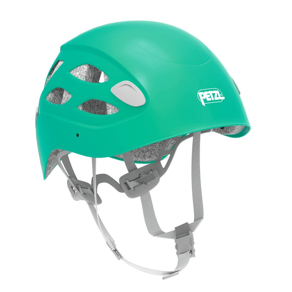 Petzl Borea multi-sport helmet, front/side view in Green colour
