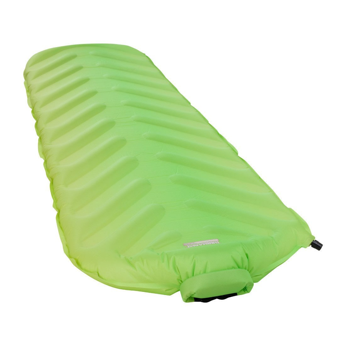 Thermarest Trail King SV Regular camping mat, shown inflated and laid flat in green colour