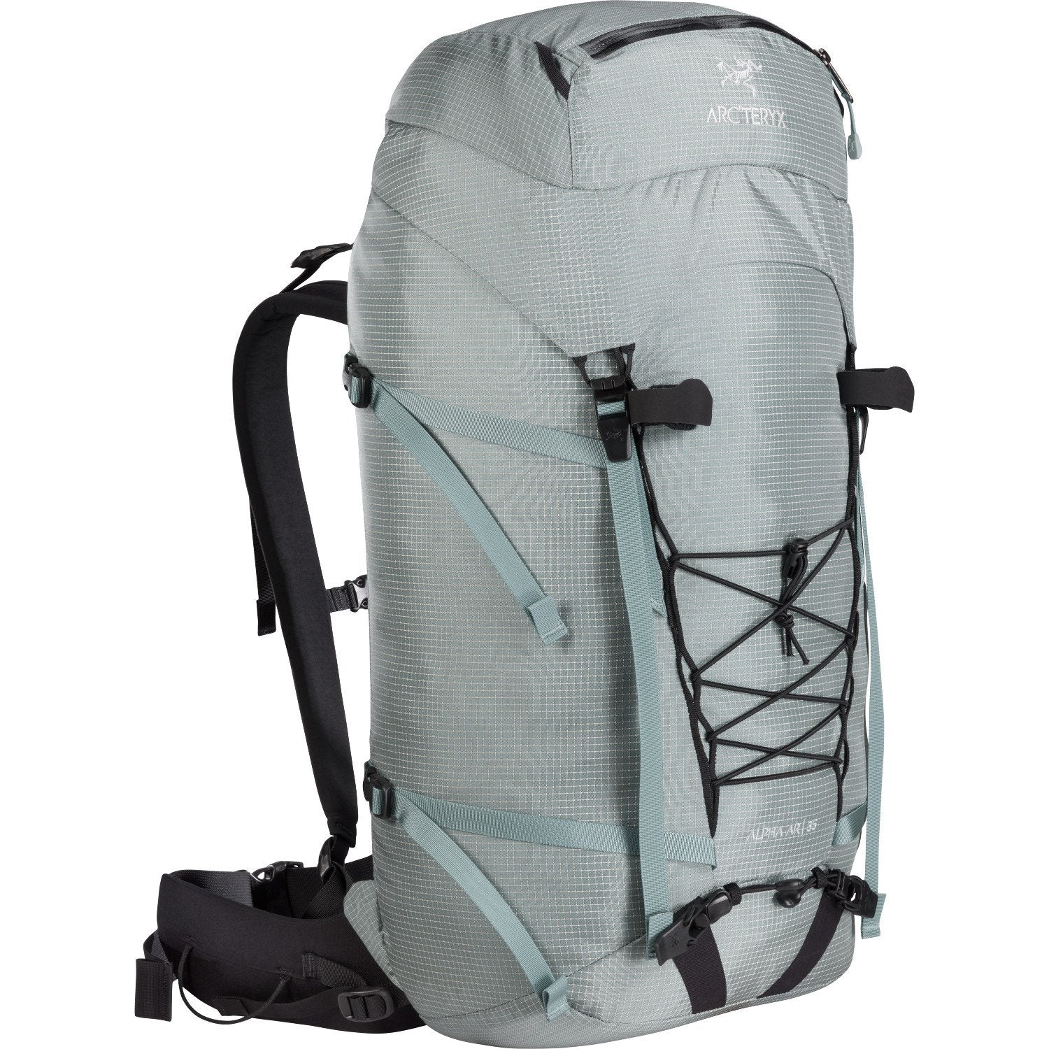 ArcTeryx Alpha AR 35 climbing rucksack, in grey colour