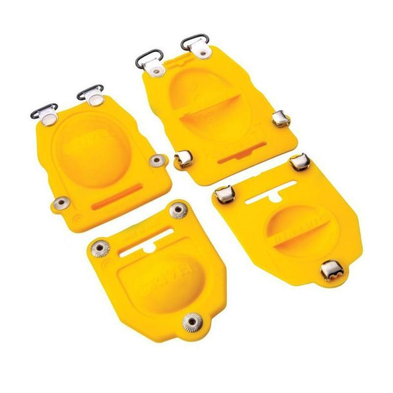 Grivel G10 Anti-balling Plate (RB101.73) for crampons, in yellow colour pair shown side by side