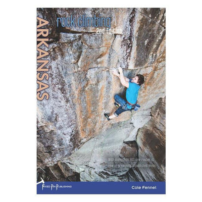 Arkansas Rock Climbing guidebook, front cover
